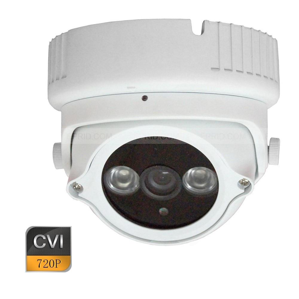 720P HD-CVI Metal Dome CCTV Security Camera Indoor 6mm Lens 2 Array IR CVI dome 2mp hdcvi camera 1080p indoor use real time 3 6mm lens cctv surveillance security camera hd cvi dome cam plastic housing