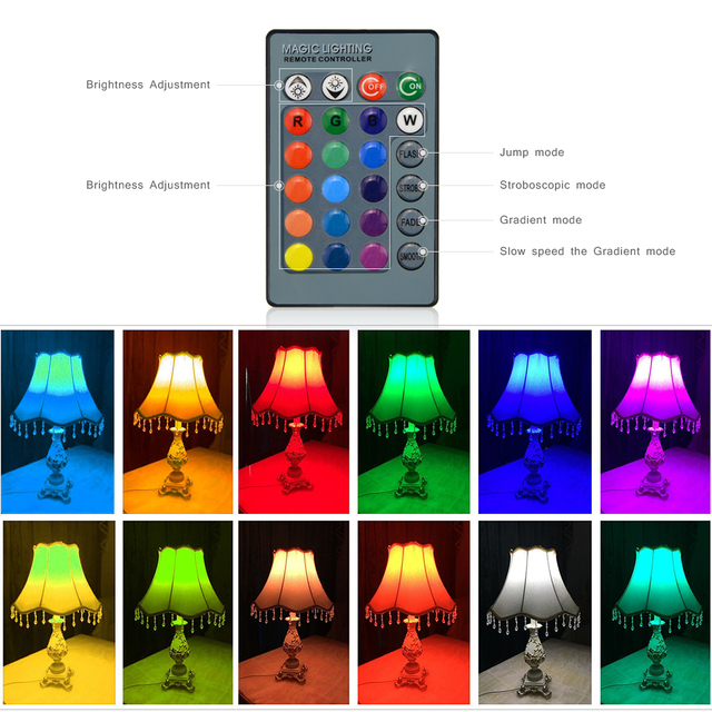 1Pcs Lovely 16 Colors RGB Christmas Decor Atmosphere LED Night light E27 5W 110V – 220V LED lamp Spotlight Bulb + IR Remote