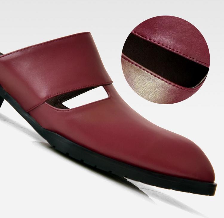 Pie Zapatos Zapatillas Diapositivas Genuino Resbalón Calidad Negro Wine Black Del Para Blanco En Verano De Hombre Moda Fuera Rojo Cuero white Hombres Punta red Dedo Alta E7anPqxnZ