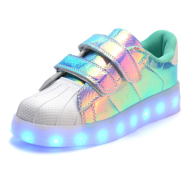 Crianças quentes shoes led com iluminação glowing light up cestas meninas meninos shoes chaussure enfant lumineuse caçoa as sapatilhas