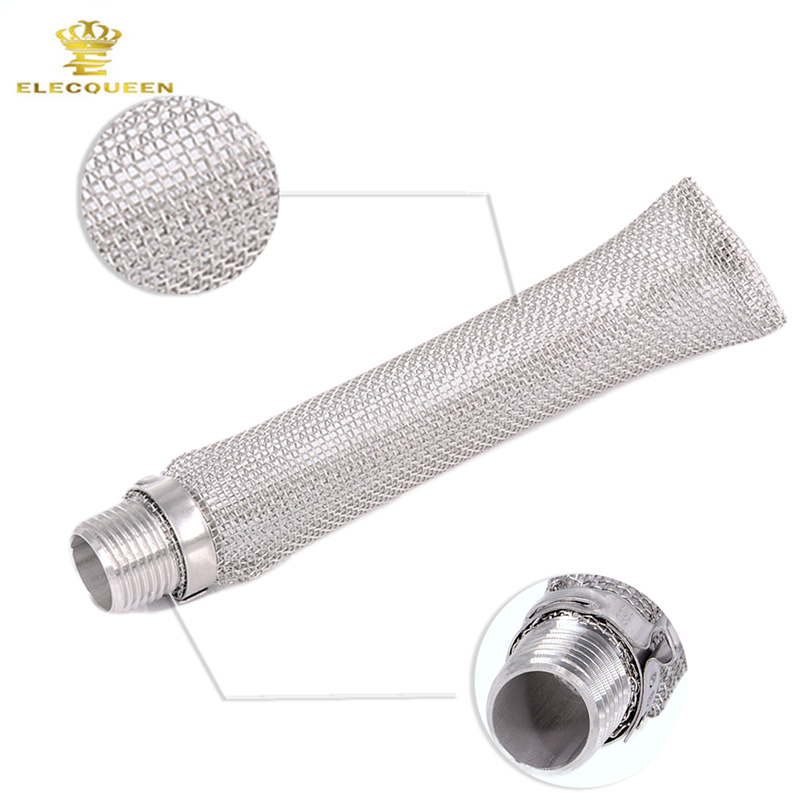 304 Stainless Steel Bazooka screen W/1/2 NPT Thread, 6 inch /15cm Beer Mash Filter/beer Mash kettle For Beer home brewing