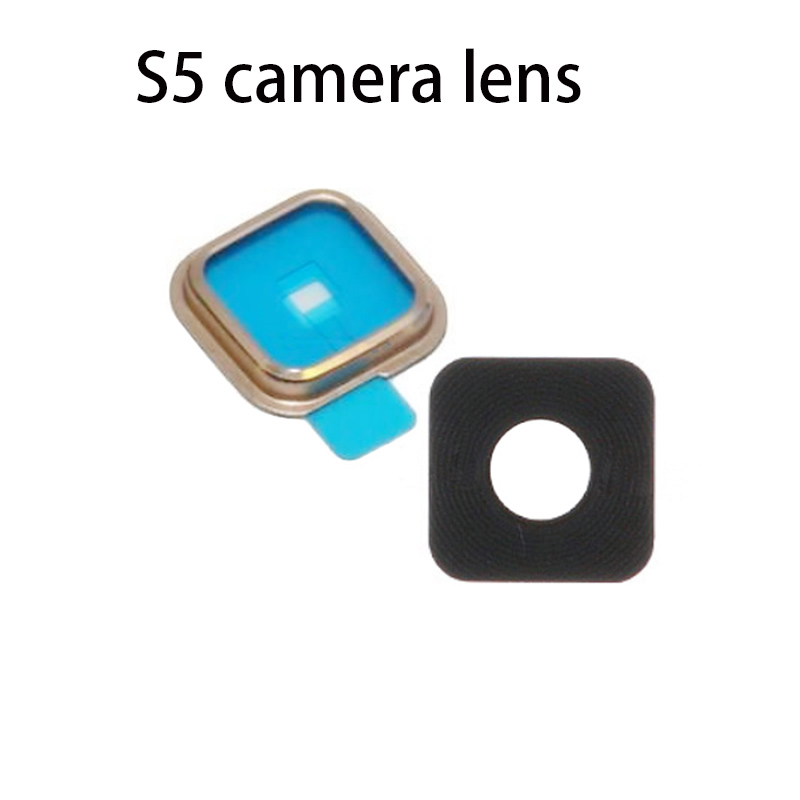 HOUSTMUST brand for Galaxy S5 I9600 G900 G9005 New Replacement Camera Glass Lens Cover For Samsung Galaxy S5free shipping image