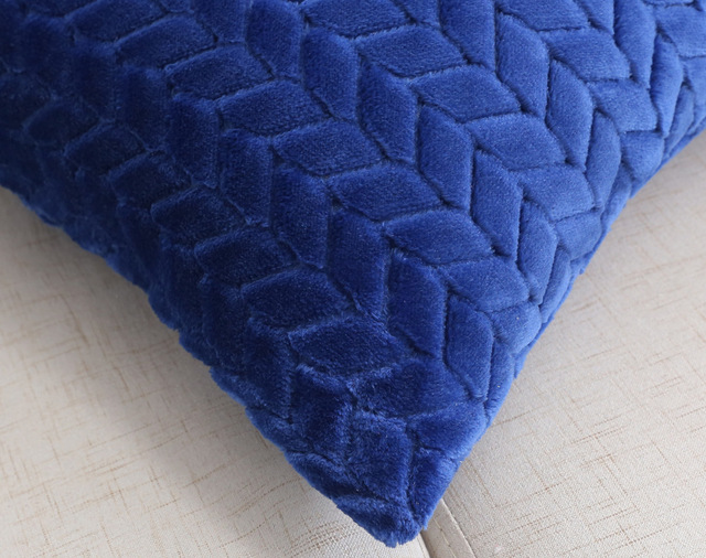 Plush cushion cover 45*45cm decora