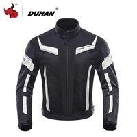 DUHAN Motorcycle Jacket Summer Mesh Moto Racing Jacket Motorcycle Protective Clothing Blouson Moto Black And Gray