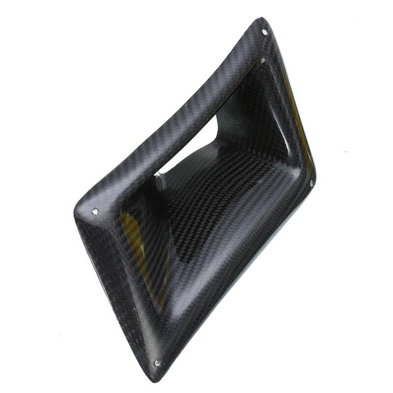 1 Pc fibre de carbone flux d'air conduit d'admission côté gauche pour Nissan 350Z Z33 2003-2009 garde-boue trou couverture voiture décoration autocollant - 2