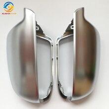 Elishastar (1 пара) Новый Зеркало заднего вида случае зеркала хром матовый чехол для-UDI A3 8 P 2008-2013 A4 A5 2013-2016