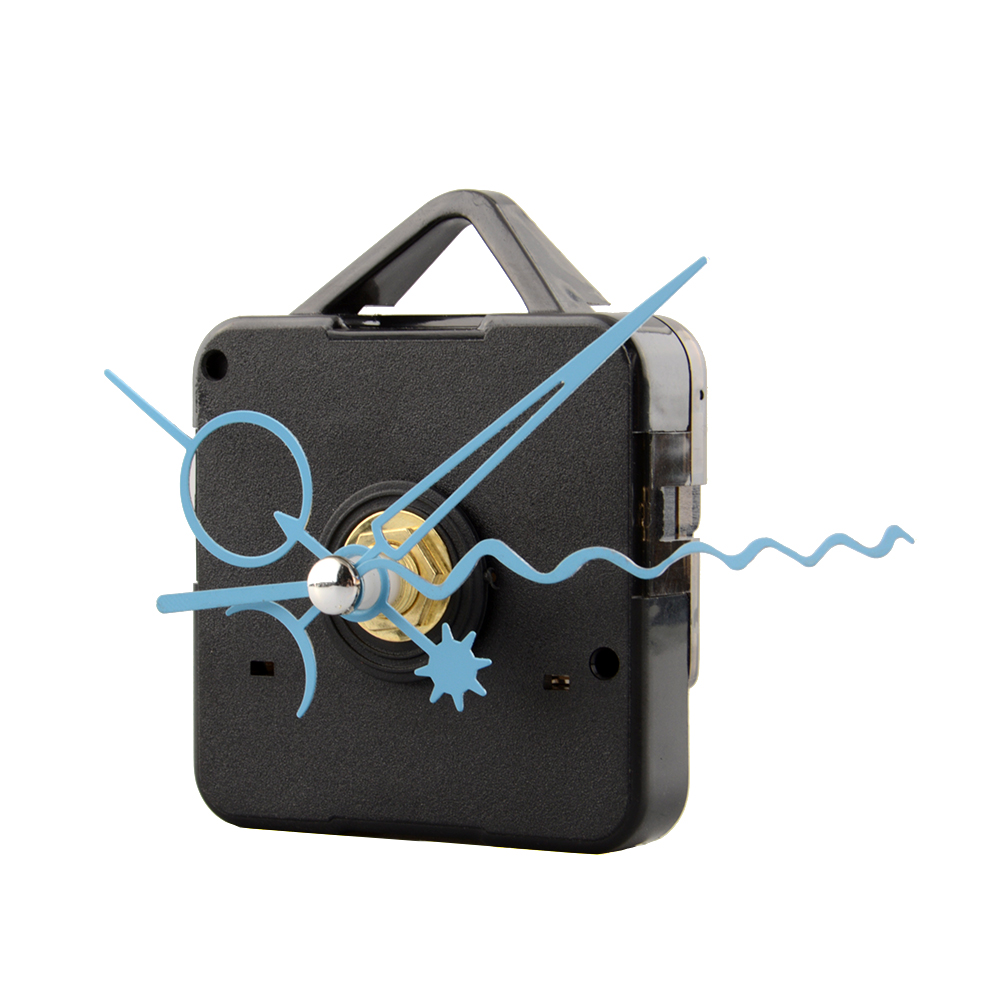 Nový 1Pc Blue Stitch Quartz Clock Movement Home Mechanism Repair Repair DIY Tool Kit with hooks drop shipping