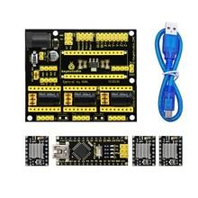 送料無料! 新! Keyestudio CNC シールド v4 + 3 ピース A4988 ドライバ + ナノ CH340 arduino のための CNC