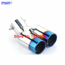 New Accessories Stainless Steel Twins Rear Exhaust Muffler Tail Pipe Tail Throat Muffler Tip For Rio 2012 2013 2014 2015
