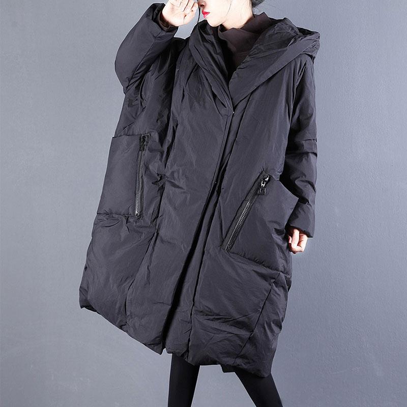 Winter Jacket 2018 Oversized Cotton Coat Women Casual Big Pocket Hooded Long Jacket Female Korean Fashion Street Outerwear 18