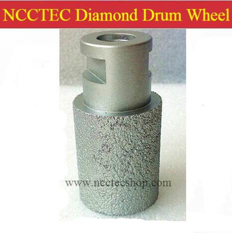 60mm Brazed Coarse Diamond Drum Wheel cutter for grinding hard granite FREE shipping | 60*60mm