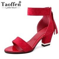 TAOFFEN/Большие размеры 28-52, 5 цветов, женские босоножки на высоком каблуке с открытым носком, на молнии, на шпильке, женская летняя обувь, лакони...