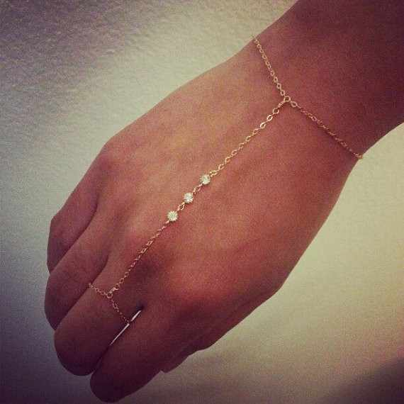 Gold Silver Color Finger Link Chain