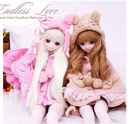 Cute Rabbit Ear Cloak Multicolors for BJD 1/6 1/4 1/3,SD16,MSD SD DD Luts DOD AS DZ Doll Clothes CW24 new 1 3 22 23cm 1 4 18 18 5cm bjd sd dod luts dollfie doll orange black short handsome wig
