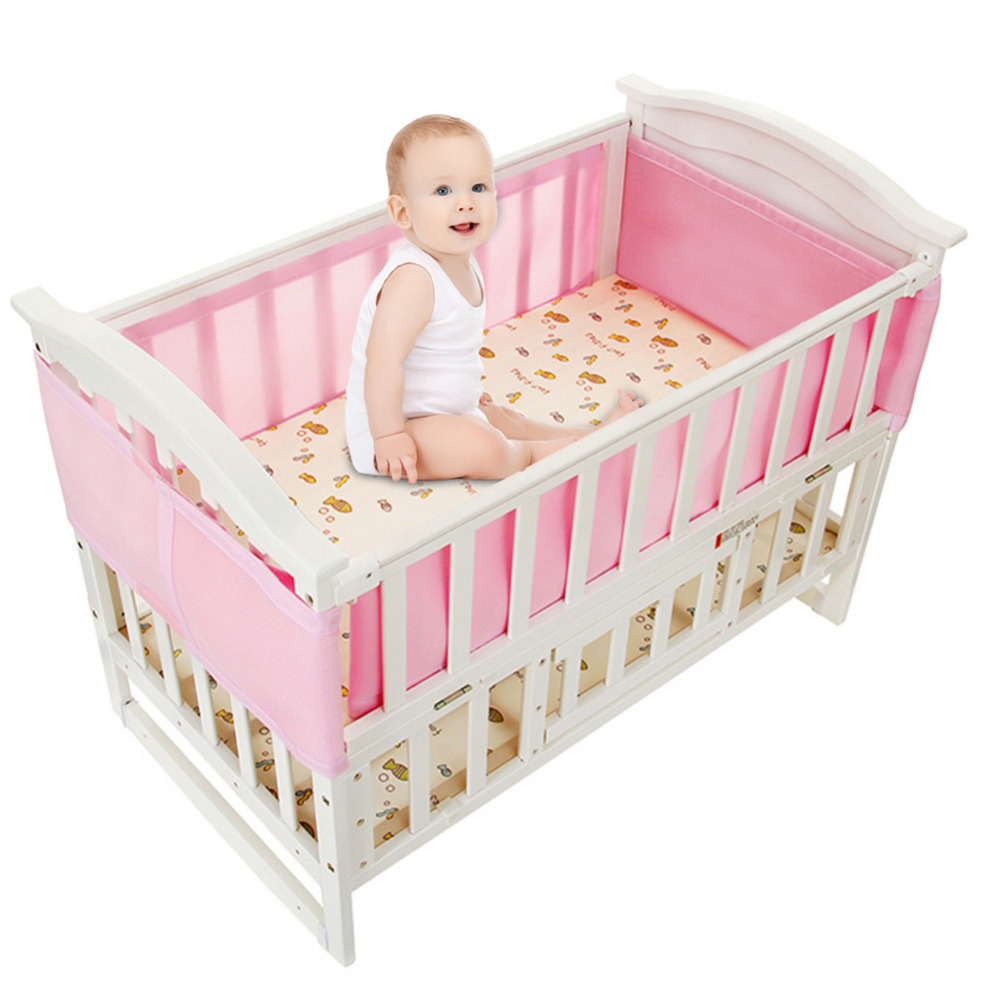 New Breathable Mesh Crib Liner Four Seasons 3d Breathable