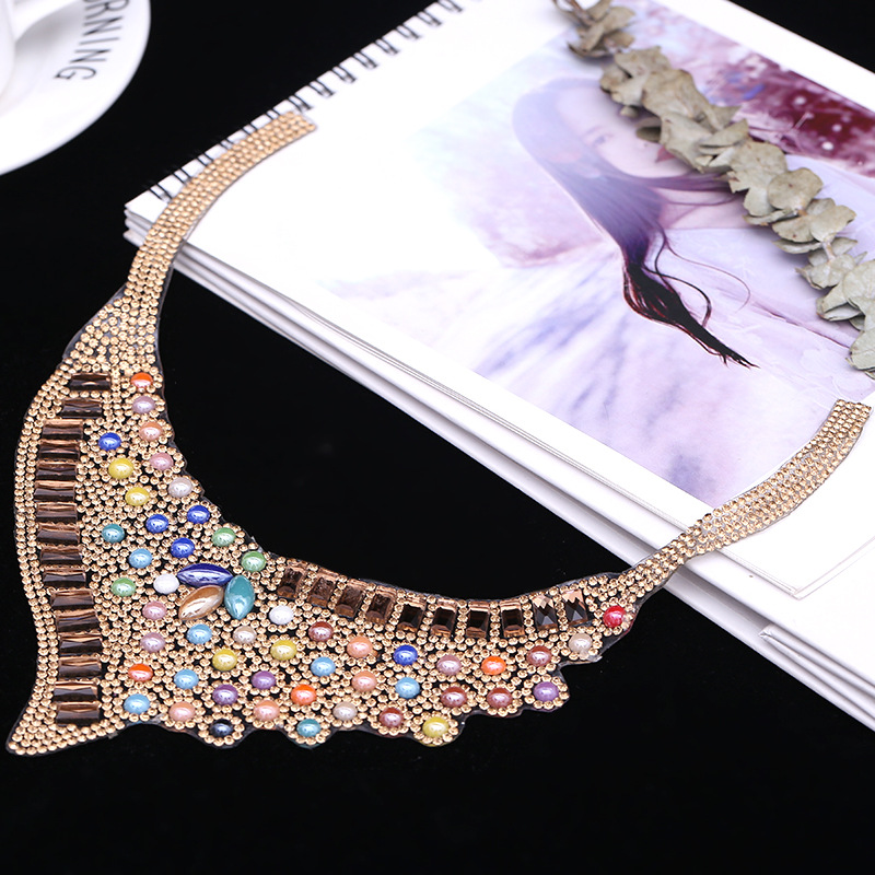 Ironing Pattern Collar Ironing Pattern Decorative Waterdrill Glass DIY Accessories