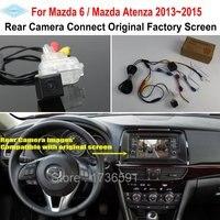 Lyudmila For Mazda 6 Mazda6 / Mazda Atenza 2013~2015 RCA Original Screen Compatible Car Rear View Camera Back Up Reverse Camera