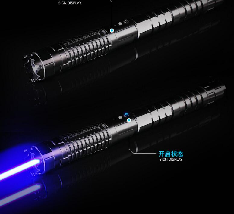 High Power Adjustable Focus Burning 450nm 100000m Blue Laser Pointer Pen Adjustable Focus Burning Paper range to 10000 meters