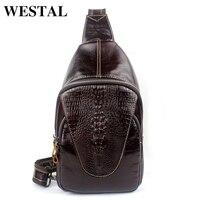 100 Genuine Leather Men Bag Hot Sold Vintage Men Messenger Bag Crossbody Bags Crocodile Sports Bags