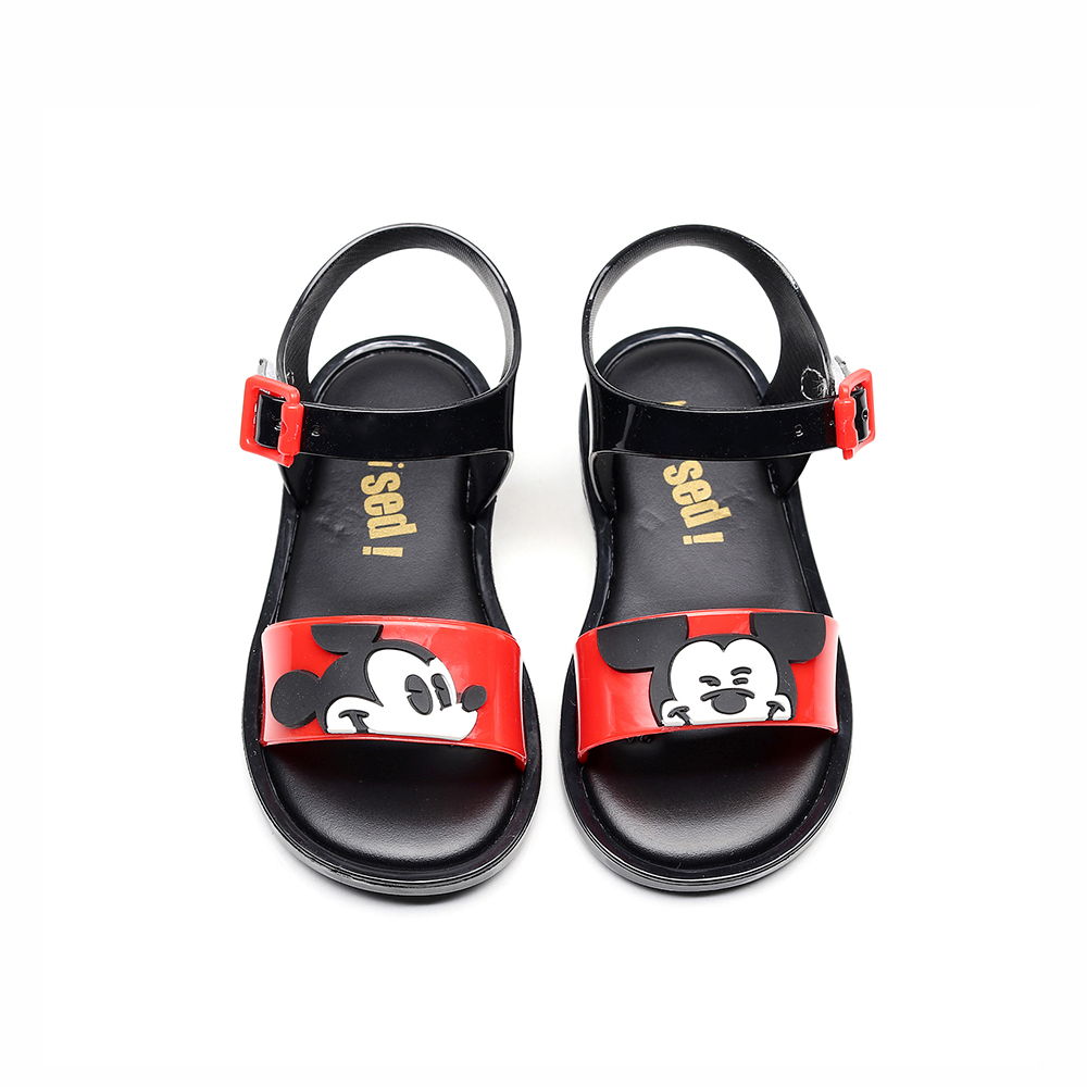 Mini Melissa Style Mickey Minnie Twins Pattern Girls Jelly Sandals Kids Sandals Non slip Princess Shoes