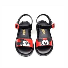 Мини Мелисса стиль Микки Минни Близнецы шаблон девушки желе детские сандалии, босоножки Нескользящая принцесса обувь Малыш