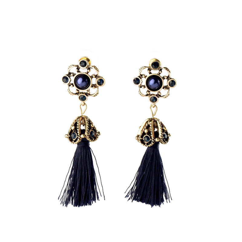 2016 New Fashion Ethnic Style Chunky Tassel Earring For Costume Party Pierced Cheap Earring