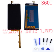 WEIDA LCD For Lenovo S60T S60T-A Lcd Display Digitizer+Touch Screen Panel Assembly original 5 Inch Replacement Parts With Tool pegasus tianm genuine original 3 5 inch lcd screen tm035kvhg01