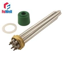 Elemento de aquecimento bonde da caldeira de água da tubulação do calefator 9kw 12kw de aço inoxidável 2 Polegada dn50 220 v 380 v 3kw 4.5kw 6kw