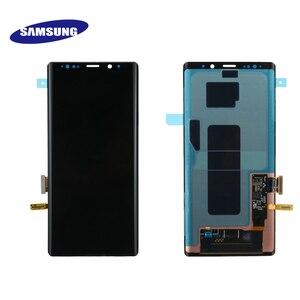 Image 4 - ЖК дисплей Super AMOLED для Samsung Galaxy NOTE 9 N960D N960F, сенсорный экран 6,4 дюйма, сменные детали с рамкой, оригинал