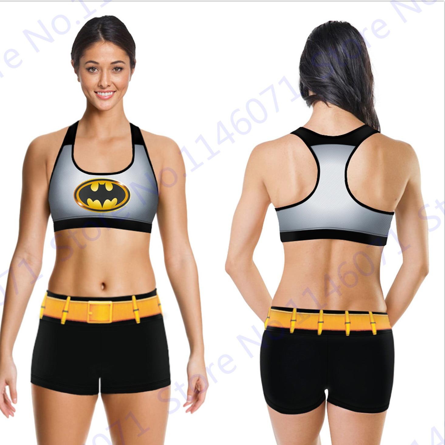 Aliexpress.com : Buy Batman Sports Bra Gym Shorts Set The