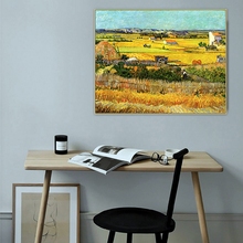 Vintage Van Gogh Famous Master Artist Harvest Canvas Painting Poster and Print Pictures for Living Room POP Wall Art Home Decor