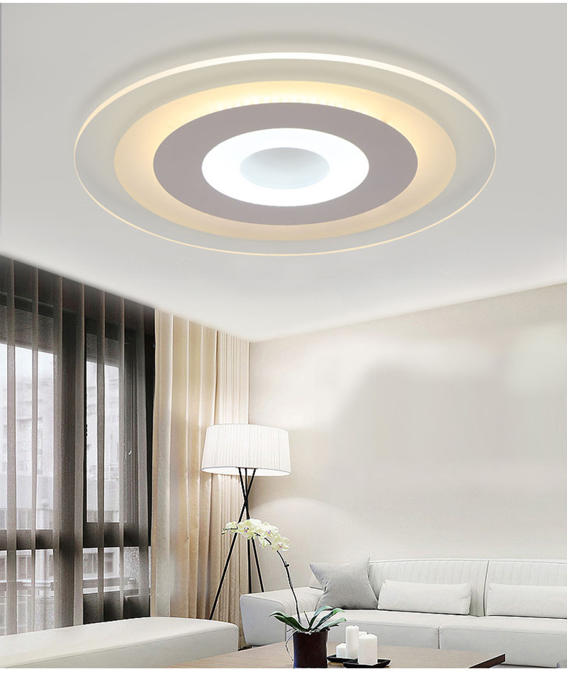 Led Ceiling Light Ultra-thin Acrylic Led Light 30W 38W 45W 56W Round Led Acrylic Lamp Cool White Warm White Dimmable ultra thin 7 touch screen lcd wince 6 0 gps navigator w fm internal 4gb america map light blue