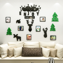2018 new The Nordic forest deer acrylic photo frame wall 3 d stereoscopic stick a sitting room sofa