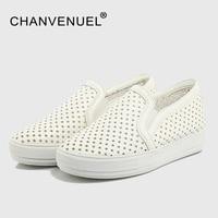 Plus Größe Frauen Schuhe Schuhe Sterne Hohlen Plattform Loafer Schuhe Sommer Atmungs Studenten Casual Flache Mit schuhe Erhöhen Schuh