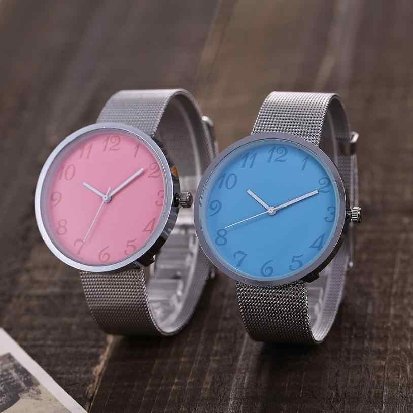 Reloj de cuarzo vansvar relojes de mujer correa de malla Casual de acero inoxidable correa de mármol reloj de pulsera analógico