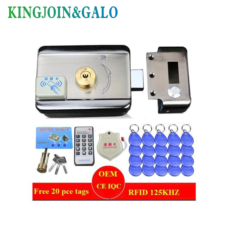 Single/double access Door & gate Access Control system Electronic integrated RFID motorized lock with RFID reader 40pcs ID tags double sided turnstile for access control system catracas tourniquetes
