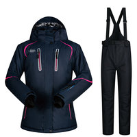 Women Ski Suit Winter Ski Jacket And Pants High quality Windproof Waterproof Breathable Thermal Skiing Snowboarding Suits Brands