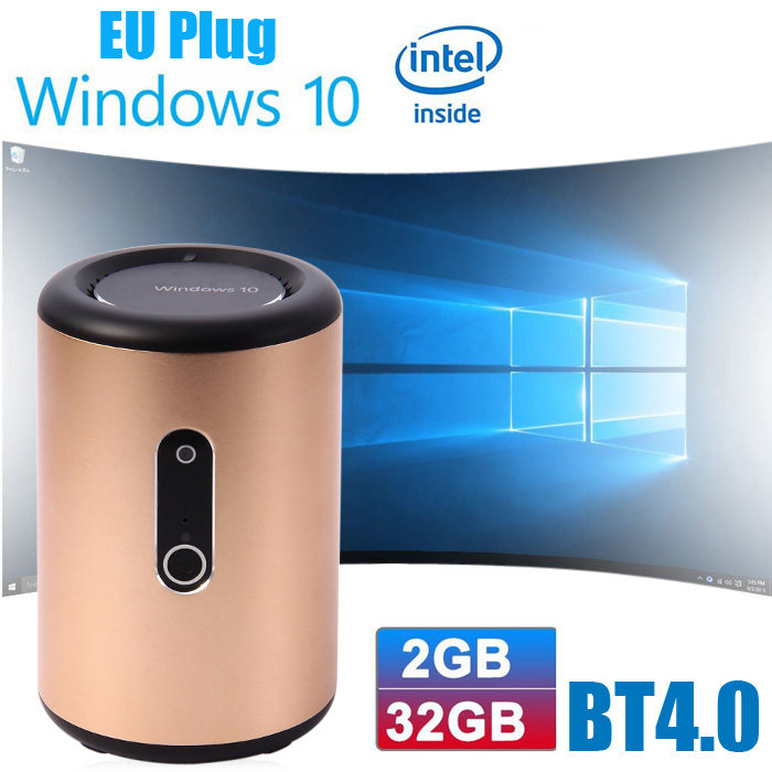 G2 Mini PC Bay Trail CR Z3735F Quad Core Windows 10 2.4G 5.8G Dual Band WiFi Bluetooth 4.0 2GB RAM 32GB ROM with 2MP HD Camera