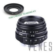 VENES Mini 35mm f/1.6 APS C TV Lens +C Macro Ring to camera adapter for Micro 4/3 / for Pentax Q OM DE M10 II E M5 IIE M1 E M5