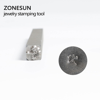 ZONESUN Customize Jewelry Buckle Mark Stamp Tool Gold Sterling Silver special Ring Bracelet Earring Metal Steel Punch Mold applicatori di etichette manuali