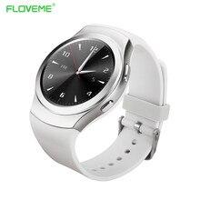 Luxus Floveme Marke Runde Android Smart Uhr Pulsuhr Gesundheit Bluetooth Smartwatch Für iPhone Samsung Tragbares Gerät