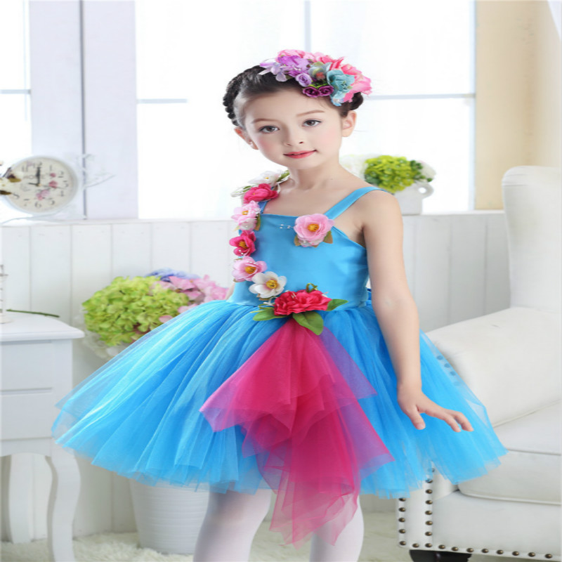 International Children 39 s Day Girls Dance Dress Kids Princess Wedding Party Performance Costumes Ball Gown Floral Dresses Clothes in Dresses from Mother amp Kids