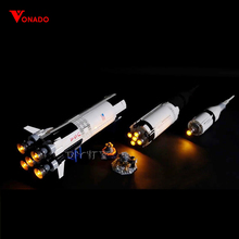 Led Light For Lego 21309 Creative The Apollo Saturn V Launch Vehicle Building Blocks Compatible 16032 ( light with Battery box)