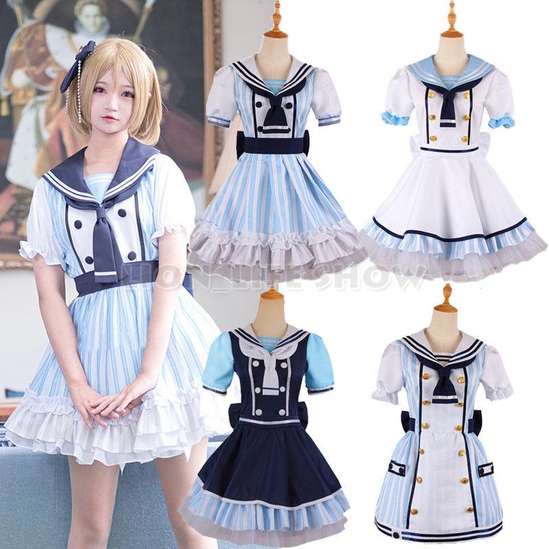 Love Live Lovelive Umi Kotori Nico Rin Eli Pirate Cosplay Costume Sailor Dress
