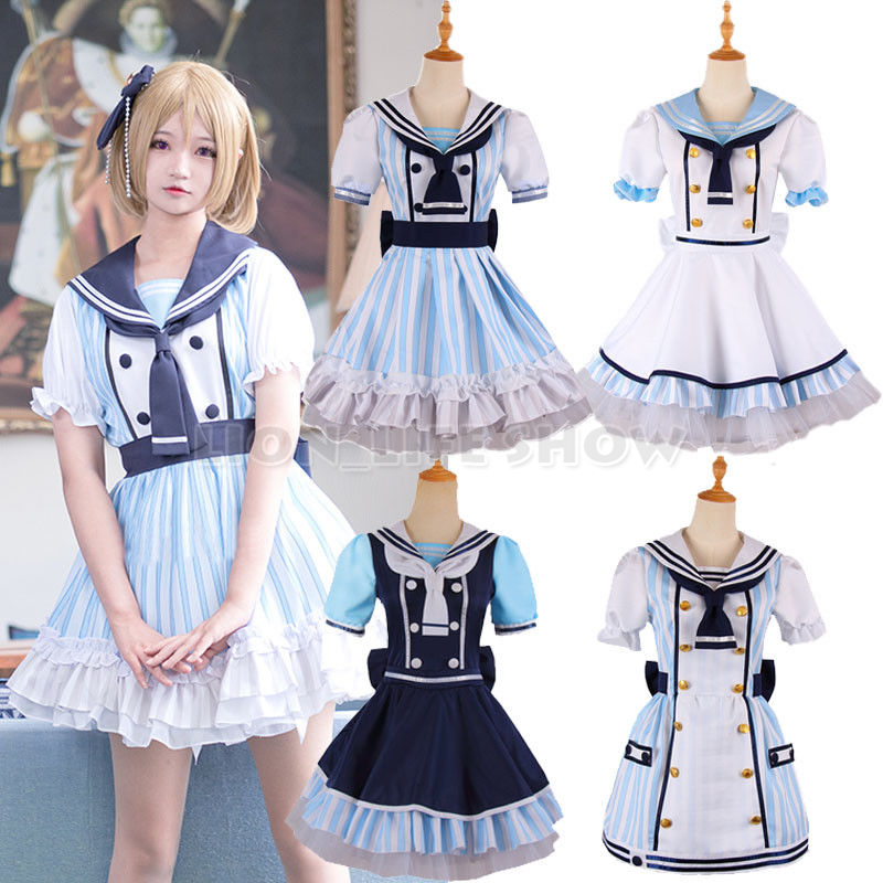 Love live Lovelive Umi Kotori Nico Rin Eli Pirate Cosplay Costume Sailor Dress