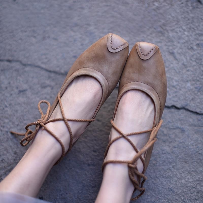 Careaymade Original Retro Art Square DIY strap cowskin single shoes pure handmade shoes comfortable soft bottom