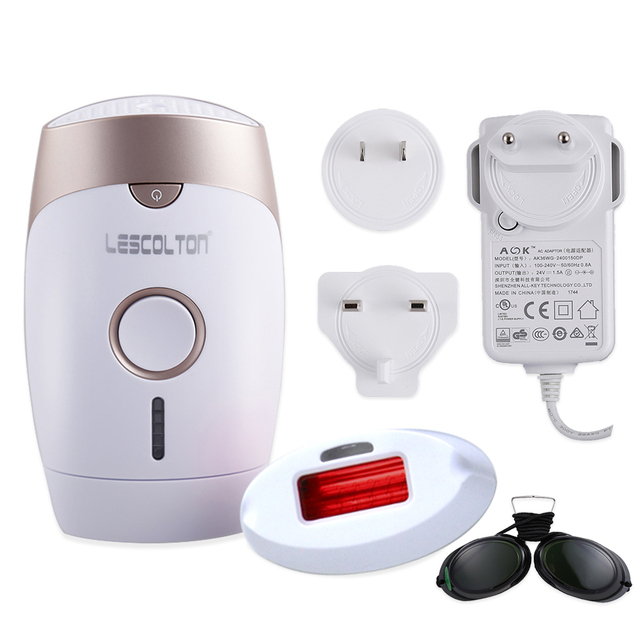 LESCOLTON Portable Electric Epilator Depilation Laser Shaver Permanent Light Technology Device for Body Hair Leg Hair Removal