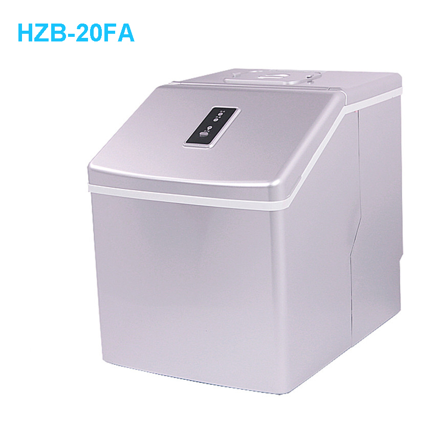1pc HZB-20FA  Ice Maker Machine Portable Automatic Ice Cube Maker Machine Bullet Round Ice Block Making Machine 25kgs/24H  220V
