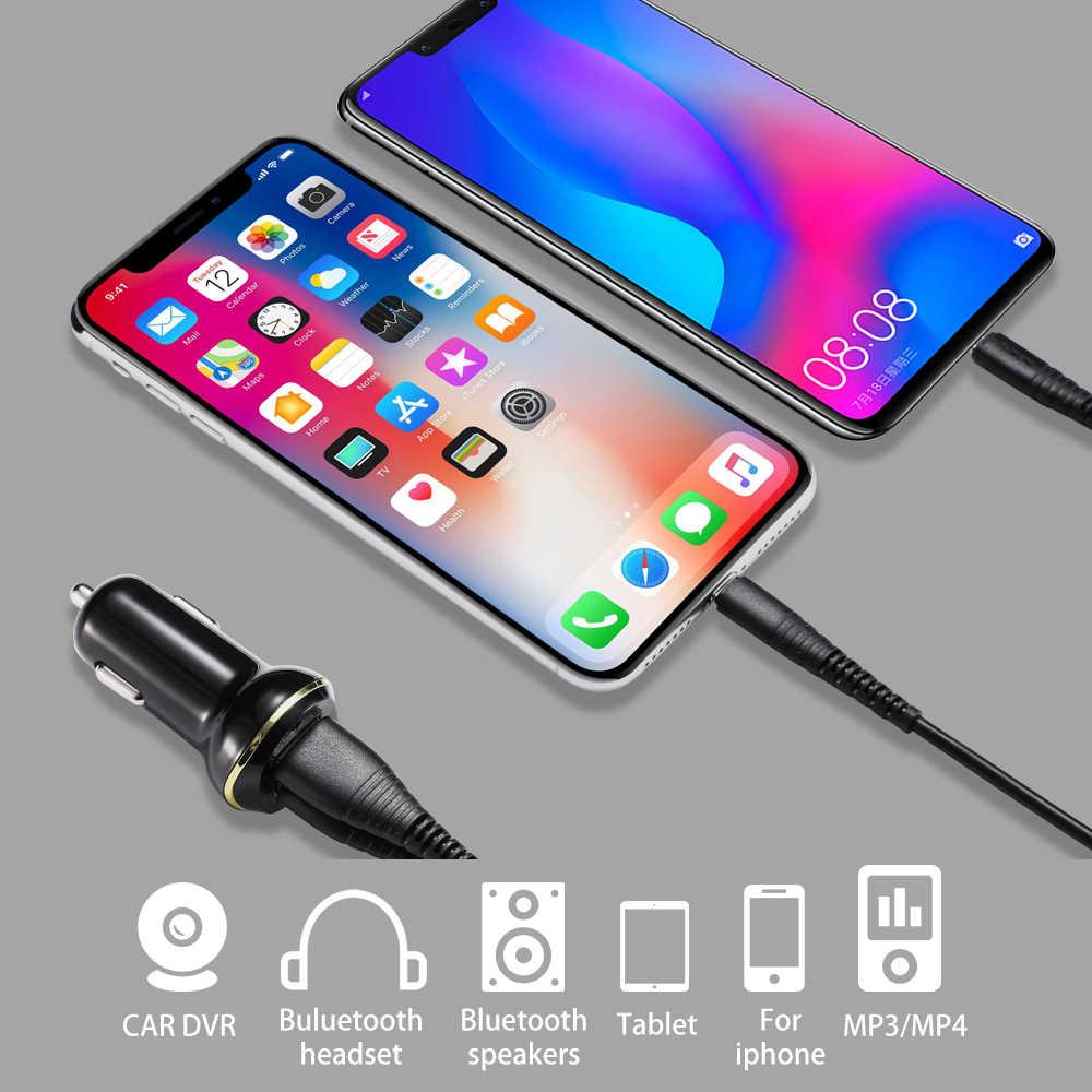 Caseier 2 USB Output Charger Mobil 3.1A Max (Real) biaya Cepat untuk iPhone X Max XR X 8 7 Mobil Charger untuk Samsung S9 S8 PLUS