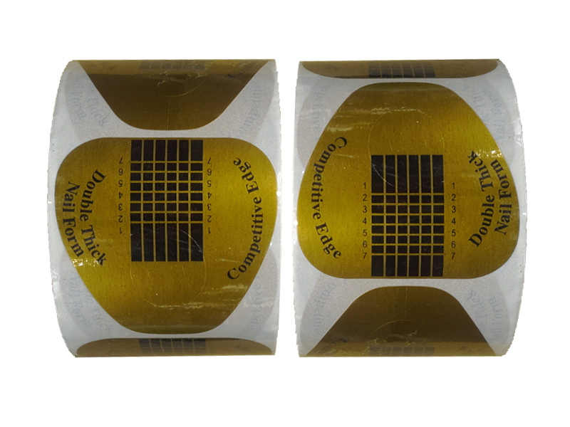 Big Sale! 300/500 Pcs Self-Adhesive 500 Double Tebal Sempurna Keunggulan Kompetitif Bentuk Kuku Akrilik Sinar UV Gel Ekstensi 415F0H